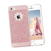 iPhone 7 Case,Inspirationc Luxury Hybrid PC Hard Shiny Bling Glitter Sparkle with Crystal Rhinestone Cover Case for iPhone 7 12cm --Rose Gold