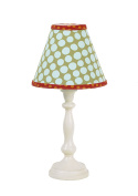 Cotton Tale Designs Lagoon Standard Lamp and Shade, Turquoise/Orange/Green