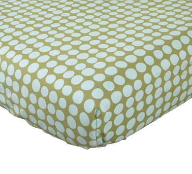 Cotton Tale Designs Lagoon Sheet, Turquoise/Green, Standard Crib