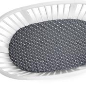 Oilo Stokke Mini Finn Crib Sheet, Charcoal