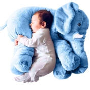 Willcomes Baby Stuffed 3D Animal Plush Toys Long Nose Elephant Cushion Lumbar Pillow Comfort Doll for Children, Decoration, Gifts