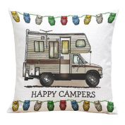 Pillow Cases,Dirance(TM) Home Decor Happy Sampers Series Square Throw Sofa Bed Decoration Cushion Cover