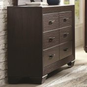 Coaster Fenbrook 204393 150cm Transitional Six Drawer Dresser in Dark Cocoa