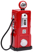 StealStreet SS-CG-62519 16cm Ceramic Painted Red Old Fashion Gas Pump Money Piggy Bank