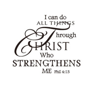 Gaosaili I Can Do All Things Through Christ Who Strengthens Me Vinyl Wall Sticker Mural Art Wall Decor Bedroom Living Room