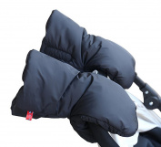 Zerlar Baby Pram Stroller Hand Muff Winter Waterproof Anti-freeze Gloves for Parents and Caregivers
