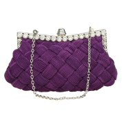 Garden Promo Bridal Bridesmaid Wallet Womens Handbag Wedding Evening Braided Rhinestone Purse Clutch