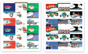 72 Aeroplane Theme Gift Tag Stickers For Presents - Aviation Assorted Christmas Stickers