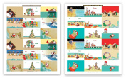 72 Beach Theme Gift Tag Stickers For Presents - Beach Assorted Christmas Stickers