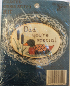 Dad You're Special Duck - Embroidery Kit #30122 with Gold Oval Frame