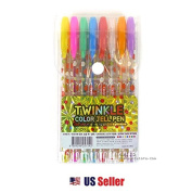 Twinkle 8 Colour Gel Pen Soft n Jell Glitter Pen Marker