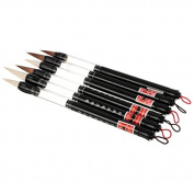 6pcs/set Super Bright Sturdy Water Brush Chinese Japanese Calligraphy Pen Set Brush 3 Sizes Fit For School Supply