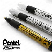 Pentel Cellulose Paint Marker - Medium Bullet Tip - MMP20 - 3 Pen Set - Gold, Silver, and White