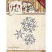 Yvonne Creations Holly Jolly Christmas Snowflake and Star Cutting Dies YCD10073
