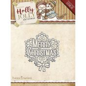 Yvonne Creations Holly Jolly Christmas Merry Christmas Cutting Die YCD10075
