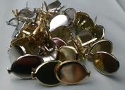 Metallic Gold & Silver Balloon Scrapbooking Brads