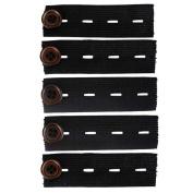 Gonear Elastic Pants Waist Extender 4 Button Slots, 5/Pack - Strong Adjustable Pant Button Extenders