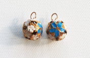 Set of 2 Colourful Tinkling Bells, Hand - painted , Charms
