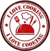 Snap button I love cooking 18mm Cabochon chunk charm
