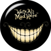 Snap button We're all mad here 18mm Cabochon chunk charm
