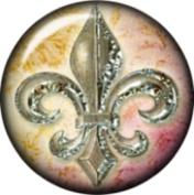 Snap button Fleur de lis 18mm Cabochon chunk charm