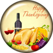 Snap button Wine Happy Thanksgiving Turkey Pumpkin corn 18mm Cabochon chunk charm