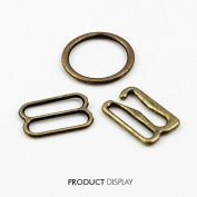20set Metal Antique Bronze Lingerie Hardware Sewing Clips Hooks Eye for Bra Strap 11mm Sewing Accessories WB84