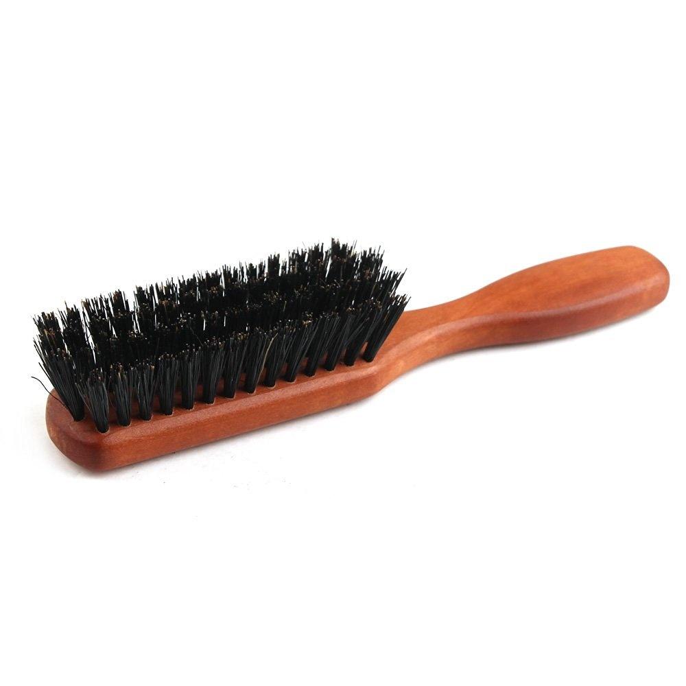 ed42e9e35161 Zeus Pear Wood 100% Boar Bristle - Medium Beard Brush with Handle - Made in  Germany