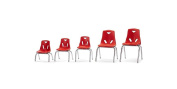 Berries¬ Stacking Chair with Chrome-Plated Legs - 41cm Ht - Yellow