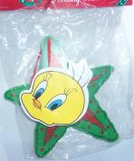 1996 Looney Tunes Tweety Bird in Star Wreath Wooden Ornament 15cm