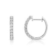 Noray Designs 14K White Gold Diamond (0.40 Ct, G-H Colour, SI2-I1 Clarity) Hoop Earrings