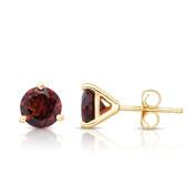 Noray Designs 14K White or Yellow Gold Garnet Stud Earrings