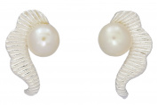 Sabuy Jewellery Sea Horse with Pearl Earrings Stud for Women's 925 Sterling Silver [ISE0189]