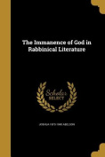 The Immanence of God in Rabbinical Literature