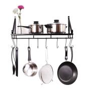 ZESPROKA Kitchen Wall Rack,Pot Rack,Black