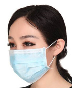 Ewandastore 3 Layer Disposable Surgical Dust Filter Mouth Cover Beauty Nail Salon Face Mask,20 Pcs,Colour in Random