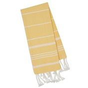Yellow Fouta Towel - Turkish Inspired - Kitchen Hand Towel - Great Gift Idea - .