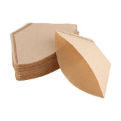 200Pcs Unbleached Coffee Filter Papers Cones Cups Brewer Espresso Strainer Dripper Natural Brown