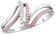 Diamond Fashion Promise Ring Size 7 10K White and Rose Gold