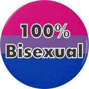 100% Bisexual Flag 5.7cm Bottle Opener w/ Keyring LGBT