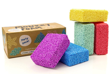 Monkey Foam - 5 Giant Blocks in 5 Great Colours - Perfect for Creative Play