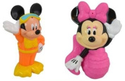 Mickey and Minnie Mouse Bath Water Squirters