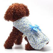 Pet Dress,Haoricu Summer Autumn Bow Printer Flower Soft Party Dress Pet Small Dog Cat Dress Pet Clothing Costume