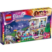 LEGO Friends Livi's Pop Star House, 41135 / Features a modular 2-story house with swivel function for easy play inside, garden area features steps up to the house, a swimming pool, sun loungers