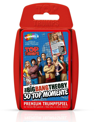 The Big Bang Theory Top TrumpsGerman Version Winning Moves Playing cards