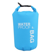 WINGONEER Waterproof Bag, Waterproof Case for Swimming, Surfing, Fishing, Boating, Skiing, Camping and Other Outdoor Sports, Protest Your Personal Item Against Water, Rain, Snow and Sweat - 5L Blue