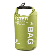 WINGONEER Waterproof Bag, Waterproof Case for Swimming, Surfing, Fishing, Boating, Skiing, Camping and Other Outdoor Sports, Protest Your Personal Item Against Water, Rain, Snow and Sweat - 2L Green