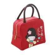 Ospard Insulation Lunch Bag Picnic Cooler Bag for Kids BWWJ-6515 Dark Red