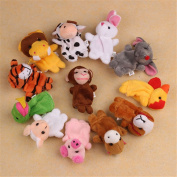 XILALU Baby Finger Puppets 12Pcs Zoo Zodiac Soft Small Animal Puppets Finger Plush Toys