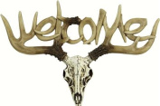 Rivers Edge Euro Deer Small Welcome Plaque